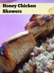 honey chicken skewers ingredients 1 lb chicken breast cubed 1 4 cup ...