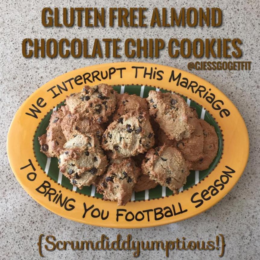 Gluten Free Almond Chocolate ChipCookies