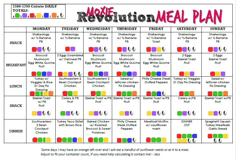 love yourself fit meal plan 1