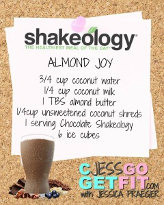 SHAKEOLOGY RECIPE almond joy