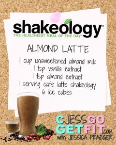 SHAKEOLOGY RECIPE ALMOND LATTE