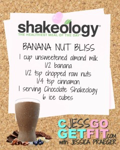 SHAKEOLOGY RECIPE banana nut bliss
