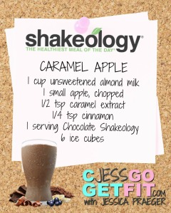 SHAKEOLOGY RECIPE caramel apple