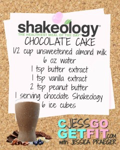 SHAKEOLOGY RECIPE CHOCOLATE cake