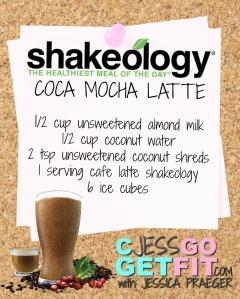 SHAKEOLOGY RECIPE coca mocha latte