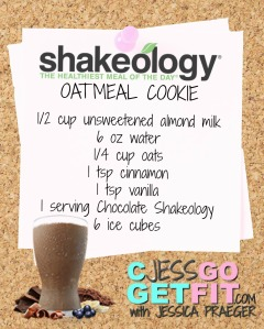 SHAKEOLOGY RECIPE oatmeal cookie