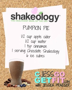 SHAKEOLOGY RECIPE pumpkin pie