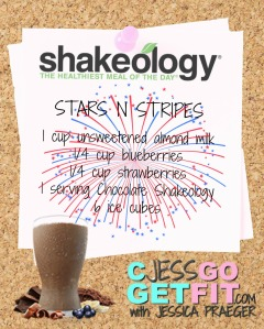 SHAKEOLOGY RECIPE stars n stripes