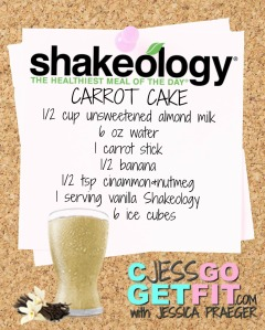 SHAKEOLOGY RECIPE VANILLA carrot cake