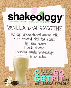 SHAKEOLOGY RECIPE VANILLA CHAI