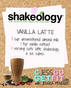SHAKEOLOGY RECIPE VANILLA LATTE