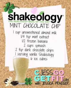 SHAKEOLOGY RECIPE VANILLA mint choc chip