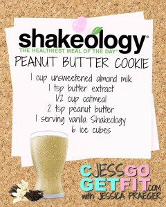 SHAKEOLOGY RECIPE VANILLA pb cookie