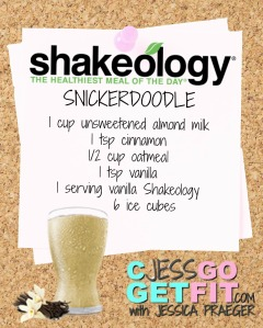 SHAKEOLOGY RECIPE VANILLA snickerdoodle