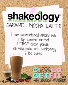 SHAKEOLOGY RECIPEcaramel mocha latte
