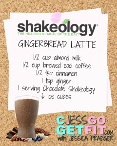 SHAKEOLOGY RECIPEGINGERBREAD LATTE