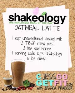 SHAKEOLOGY RECIPEoatmeal latte