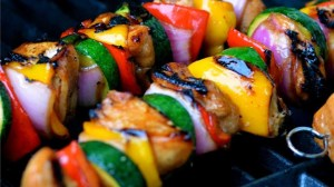 Honey Chicken & Veggie Kabobs