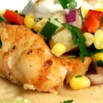 Grilled Fish Tacos with Corn Salsa